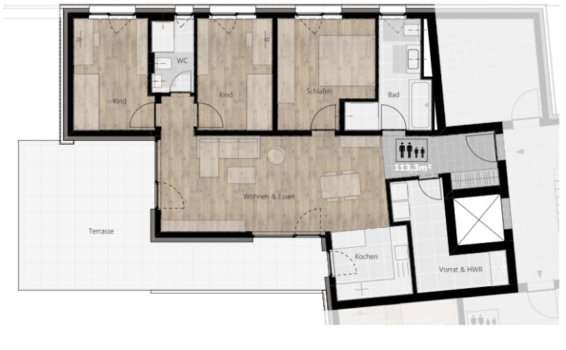 Kurzbeschreibung Ausstattung – Wohnung 01 (EG) – Vierraumwohnung im Erdgeschoss
