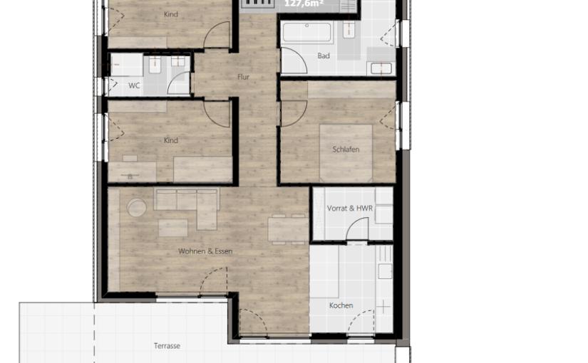 Kurzbeschreibung Ausstattung – Wohnung 02 (EG)