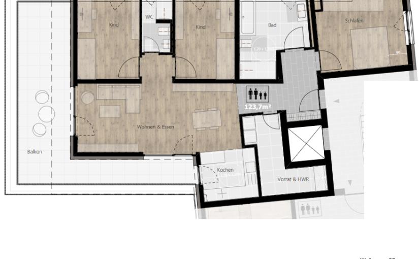 Kurzbeschreibung Ausstattung – Wohnung 03 (1.OG)